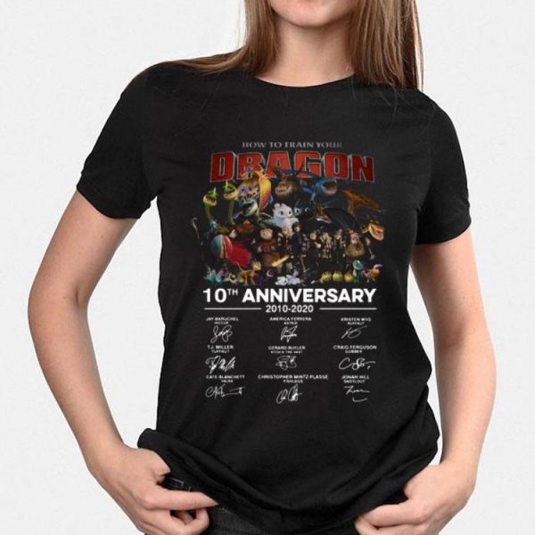 How To Train Your Dragon 10th Anniversary signatures shirt