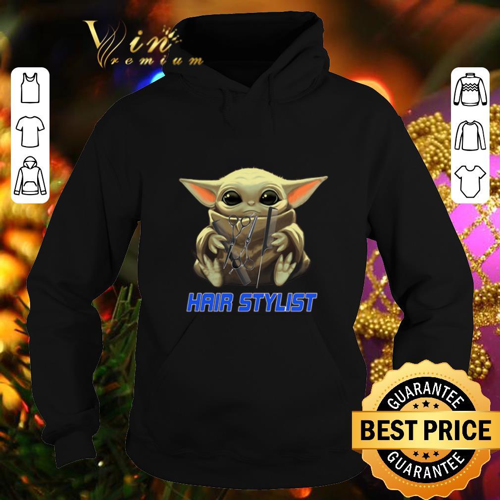 Original Baby Yoda hug Hair Stylist Star Wars Mandalorian shirt