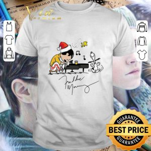 Original Freddie Mercury Playing Piano Snoopy Peanuts Signature Christmas shirt