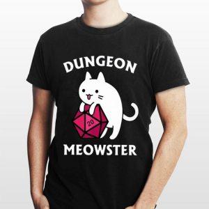Pretty Dungeon Meowster DnD Gamer Cat D20 shirt