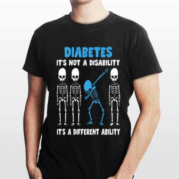 Skeletons Diabetes it's not a disability it's a different ability sweater