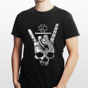 Skull Victory sign Rammstein Du hast mich gefragt shirt
