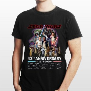 Star Wars 43rd Anniversary 1977 2020 Signatures shirt