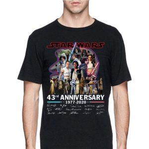 Star Wars 43rd Anniversary 1977 2020 Signatures shirt
