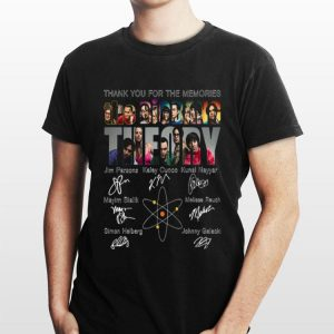Thank you for the memories The BigBang Theory characters signatures sweater
