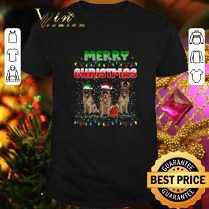 Top German Shepherd Santa Reindeer Merry Christmas Lights shirt