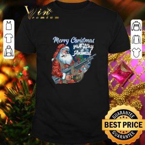 Top Santa Claus Merry Christmas ya filthy animal shirt