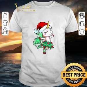 Top Santa Unicorn Christmas Tree Dance shirt