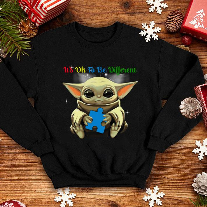Autism Awareness Baby Yoda it's ok to be different shirt
