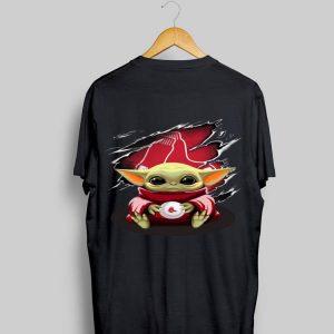 Baby Yoda Blood Inside Boston Red Sox shirt