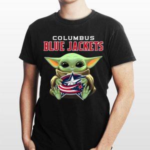 Baby Yoda Hug Columbus Blue Jackets shirt