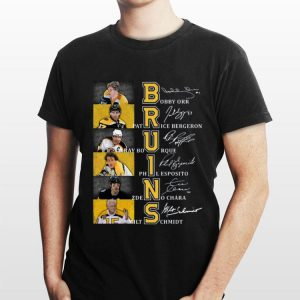 Bruins Bobby Orr Patrice Bergeron Signatures shirt