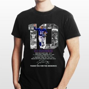 Eli Manning New York Giants 2004-2019 thank you for the memories signature shirt