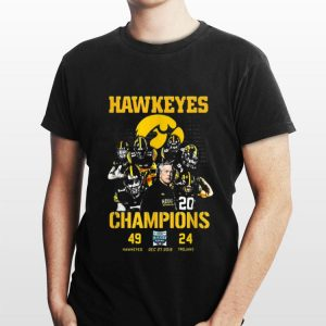 Iowa Hawkeyes Champions 2019 Holiday Bowl shirt