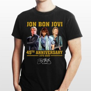 Jon Bon Jovi 45th Anniversary 1975 2020 Signature shirt