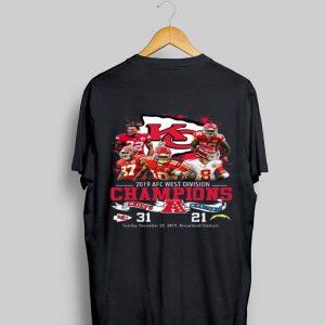 Kansas City Chiefs 2019 Afc West Division Champions Chiefs Vs Chargers shirt