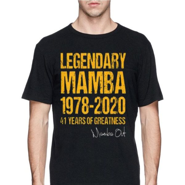 Mamba Out 1978 2020 41 Years Of Greatness shirt