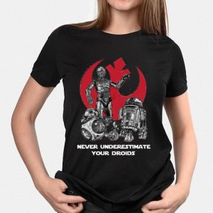 Never Underestimate Your Droids Star Wars shirt