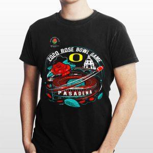 Oregon Ducks 2020 Rose Bowl Game Bound Illustration Pasadena shirt