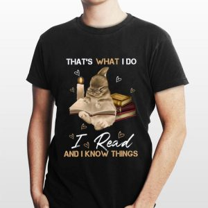 Rabbit That's what I do I read and I know things shirt
