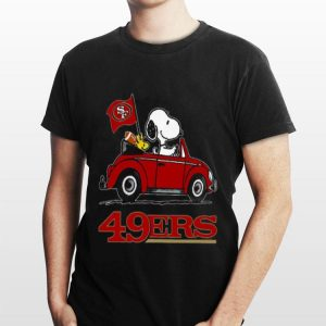 Snoopy Driving Volkswagen San Francisco 49ers shirt