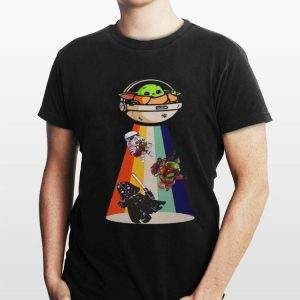 Star Wars Darth Vader Baby Yoda Ufo shirt