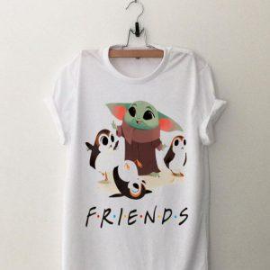 Star Wars Porgs and Baby Yoda Friends TV show shirt