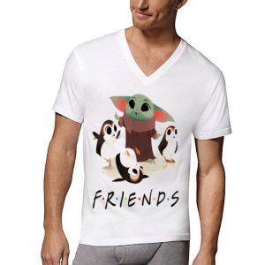 Star Wars Porgs and Baby Yoda Friends TV show shirt