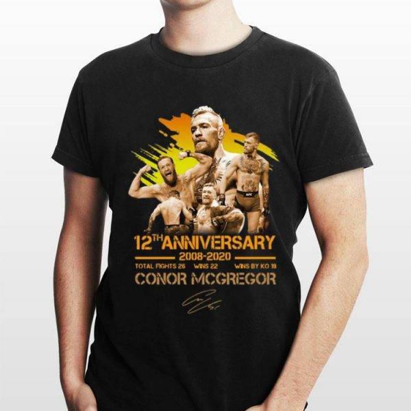 12th Anniversary 2008 -2020 Conor McGregor Signature shirt