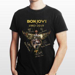 Bon Jovi 1983 2019 all signature Wings Cross Jesus shirt