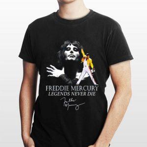 Freddie Mercury Legends Never Die Signature shirt