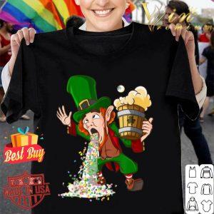 Funny St Patricks Day Leprechaun Drunk Irish Puking Bar Pub shirt