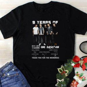 Hot 9 years of One Direction thank you for the memories signatures shirt