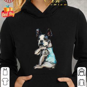 Hot Boston Terrier i love mom tattoo shirt