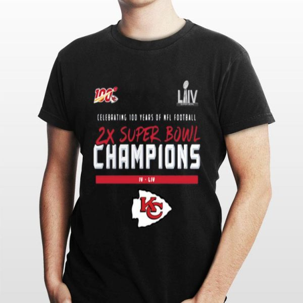Kansas City Chiefs 2 Time Super Bowl Champions shirt