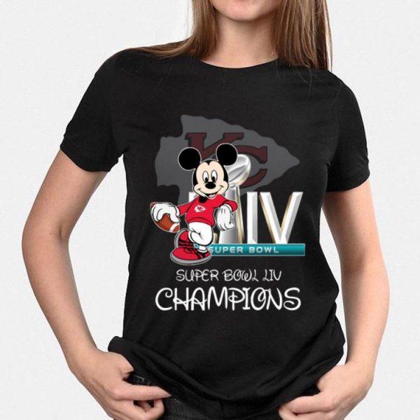 Kansas City Chiefs Mickey Mouse Super Bowl Liv Champions shirt