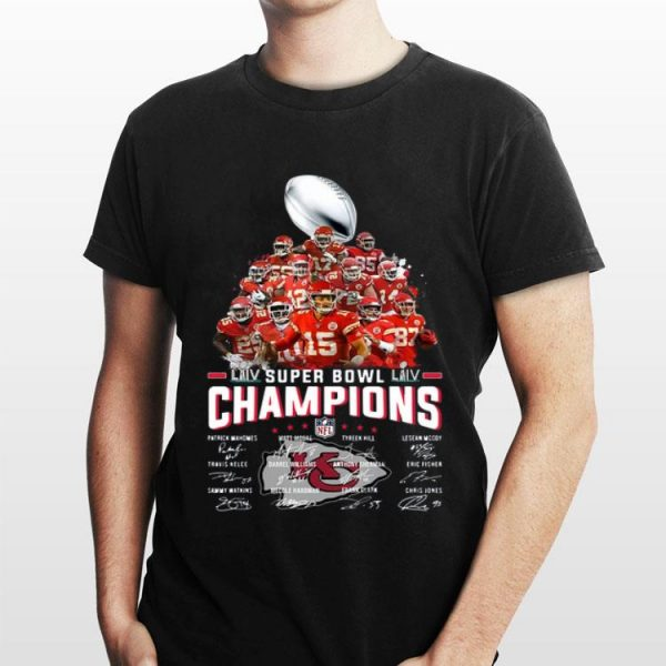 Kansas City Chiefs Super Bowl Champions Players Signatures shirt