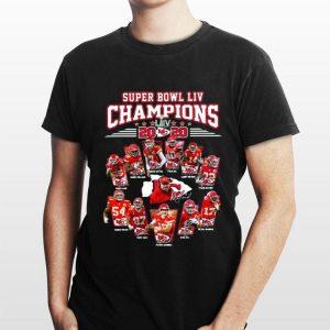 Kansas City Chiefs Super Bowl Liv Champions 2020 All Players Signatures shirt