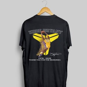 Kobe Bryant 1978 2020 Thank You For The Memories Signatures shirt