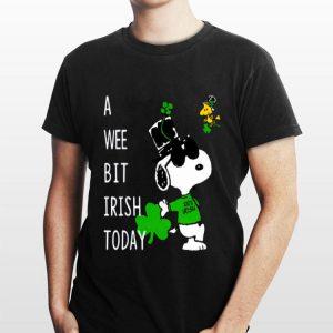 Snoopy A Wee Bit Irish Today shirt