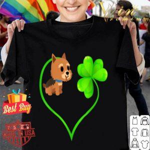 St Patricks Day Norwich Terrier Dog Mom Dad Shamrock Kids shirt