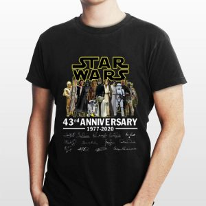 Star Wars 43rd Anniversary characters signature shirt