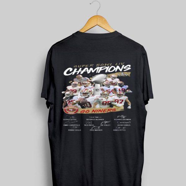Super Bowl Liv Champions San Francisco 49ers Go Niners Signatures shirt