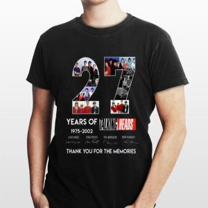 27 Years Of 1975 2002 Talking Heads Thank You For The Memories signatures shirt