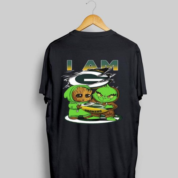 Baby Groot And Baby Grinch I AM Green Bay Packers shirt