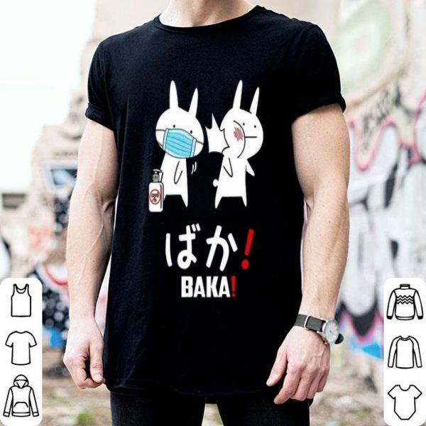 Baka Rabbit Mask Japanese Coronavirus shirt