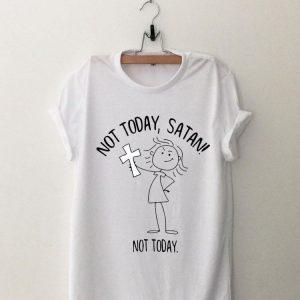 Girl with Cross not today satan not today shirt