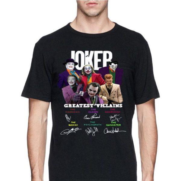 Joker Greatest Villains Characters Signatures shirt
