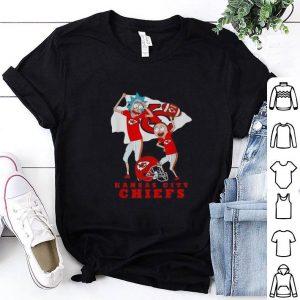 Original Rick and Morty mashup Kansas City Chiefs Logo shirt
