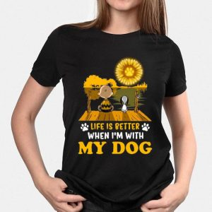 Snoopy And Charlie Brown Life Is Better When I'm With My Dog Sunflower shirt